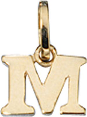 Anhänger Halskettenanhänger Buchstabe M 8Kt GOLD