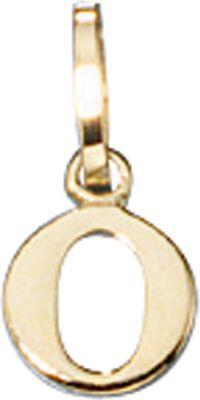 Anhänger Halskettenanhänger Buchstabe O 8Kt GOLD