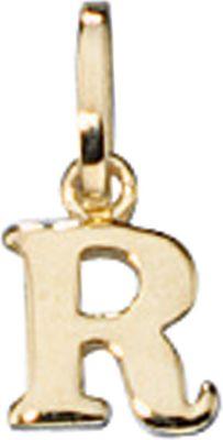 Anhänger Halskettenanhänger Buchstabe R 8Kt GOLD