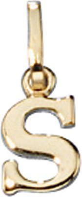 Anhänger Halskettenanhänger Buchstabe S 8Kt GOLD