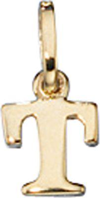 Anhänger Halskettenanhänger Buchstabe T 8Kt GOLD
