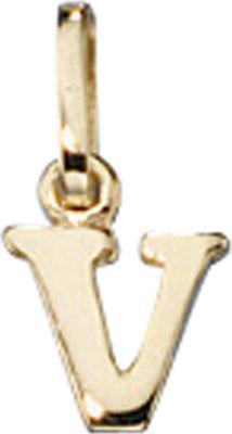 Anhänger Halskettenanhänger Buchstabe V 8Kt GOLD