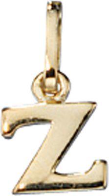 Anhänger Halskettenanhänger Buchstabe Z 8Kt GOLD