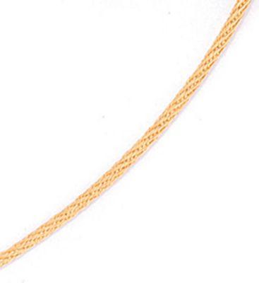 Halsreif 750 Gold Gelbgold 1,1 mm 50 cm Halskette Kette Karabiner