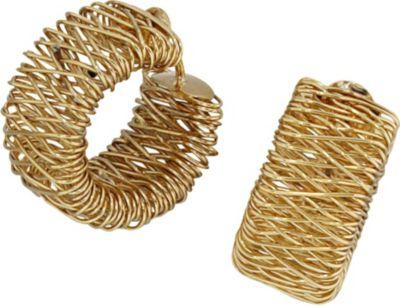 Creolen breit 585 Gold Gelbgold Ohrringe Goldohrringe Goldcreolen