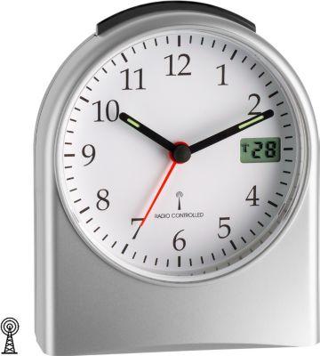 TFA TFA Funk-Wecker digitale Sekundenanzeige Nachweckautomatik Beleuchtug