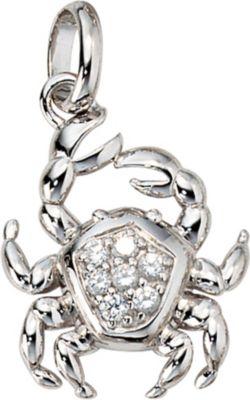 Jobo Anhänger Halskettenanhänger Krebs Zirkonia 925 Sterling Silber