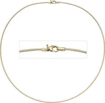 Jobo Halsreif flexibel 585 Gelbgold 1,4 mm 45 cm Gold Kette Halskette Goldhalsreif