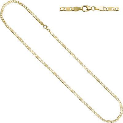 Jobo Halskette Kette 333 Gold Gelbgold 45 cm Goldkette Karabiner