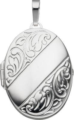 Jobo Medaillon oval für 2 Fotos 925 Sterling Si...