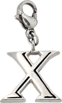 Kettenanhänger Einhänger Charm Buchstabe X Edelstahl