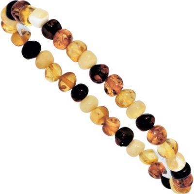 Jobo Armband Bernstein multicolor endlos Bernsteinarmband