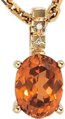 Jobo Anhänger Halskettenanhänger Diamanten 14Kt GOLD