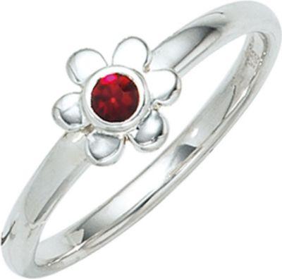 Jobo Kinder Ring Blume 925 Sterling Silber rhod...