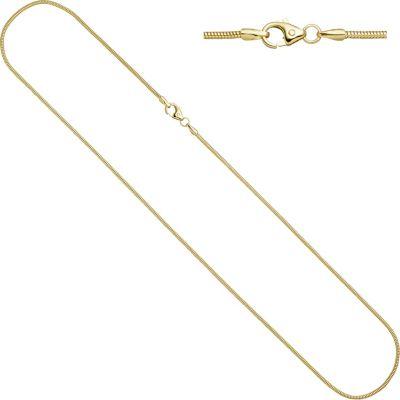 Schlangenkette 333 Gelbgold 1,6 mm 50 cm Karabiner Gold Kette Goldkette