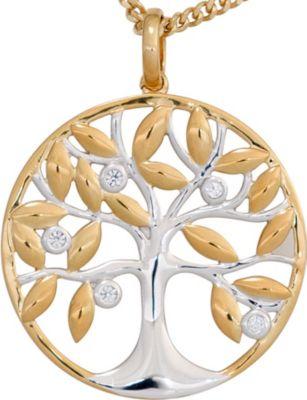 Jobo Anhänger Halskettenanhänger Baum Brillanten 14Kt GOLD