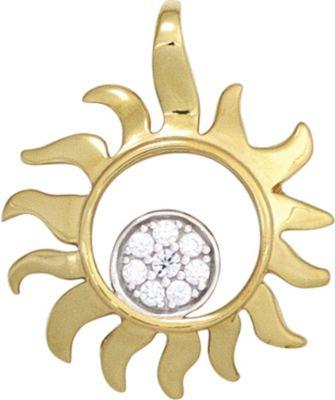 Jobo Anhänger Halskettenanhänger Sonne Brillanten 14Kt GOLD