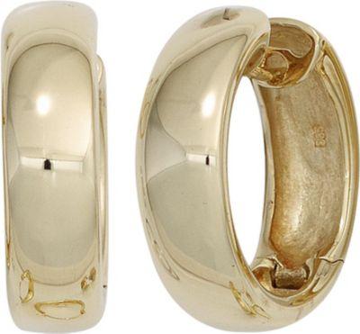 Jobo Creolen rund 585 Gold Gelbgold Ohrringe Goldohrringe Goldcreolen