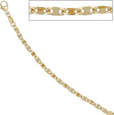 Jobo Halskette Kette 585 Gelbgold 45 cm Goldkette Karabiner