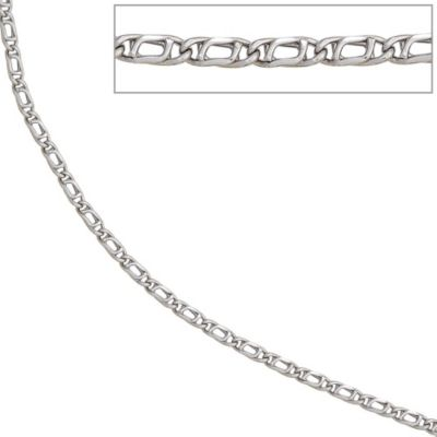 Jobo Halskette Kette 585 Weißgold 45 cm Goldkette Karabiner