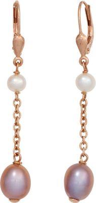 Jobo Boutons 925 Silber gold vergoldet 4 Süßwasser Perlen Ohrringe Ohrhänger