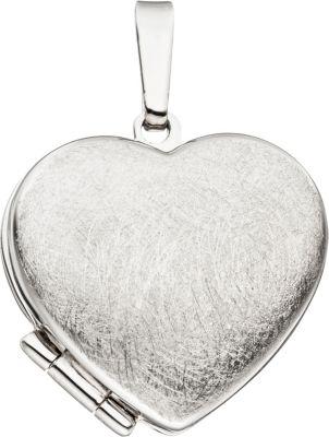 Jobo Medaillon Herz für 2 Fotos 925 Sterling Si...