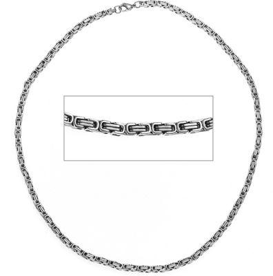 Königskette Edelstahl 4,5 mm 50 cm Halskette Kette Karabiner