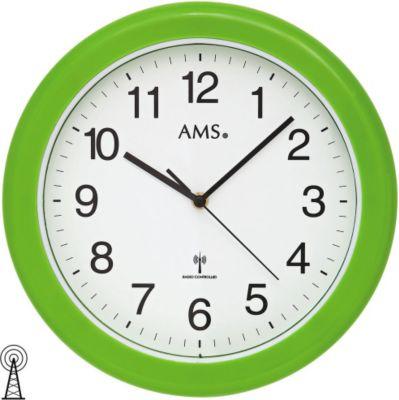 AMS AMS 5958 Wanduhr Funk Badezimmeruhr wasserdicht grün