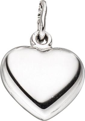 Kinder Anhänger Herz 925 Sterling Silber rhodiniert Herzanhänger Kinderanhänger