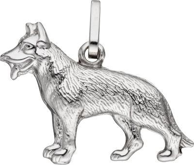 Jobo Anhänger Schäferhund Hund 925 Sterling Sil...