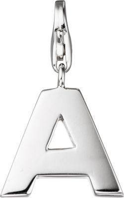 Einhänger Charm Buchstabe A 925 Sterling Silber Anhänger für Bettelarmband