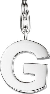 Einhänger Charm Buchstabe G 925 Sterling Silber Anhänger für Bettelarmband