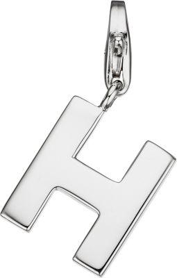Einhänger Charm Buchstabe H 925 Sterling Silber Anhänger für Bettelarmband