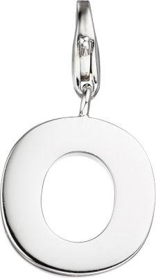 Einhänger Charm Buchstabe O 925 Sterling Silber Anhänger für Bettelarmband