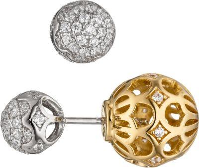 Ohrstecker 925 Silber bicolor vergoldet mit Zirkonia Ohrringe doppelseitig