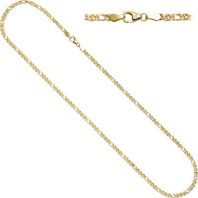 jobo-zwillings-panzerkette-585-gelbgold-3-mm-45-cm-gold-kette-halskette-goldkette, 229.00 EUR @ plus-de