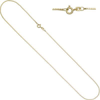 Jobo Venezianerkette 925 Sterling Silber gold vergoldet 1,3 mm 50 cm Kette Halskette
