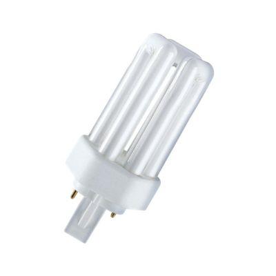 Osram Kompaktleuchtstofflampe DULUX T PLUS - GX24d, 830 Warmweiß - 18W