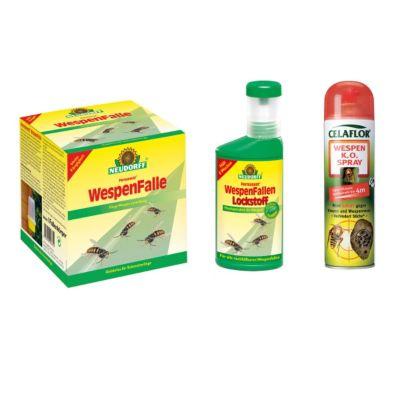 Set zur Wespenbekämpfung - Wespenfalle, Lockstoff und Wespenspray