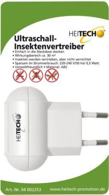 Heitech Ultraschall-Insektenvertreiber für die Steckdose | Baumarkt > Elektroinstallation > Steckdosen | Abs | Heitech