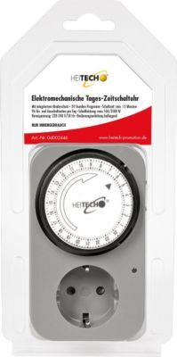 Heitech Elektromechanische Tages-Zeitschaltuhr