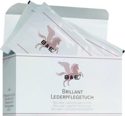 B & E - Brillant Lederpflegetuch - 12 Stück