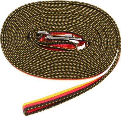 Longe aus Kunststoff - schwarz/rot/gold