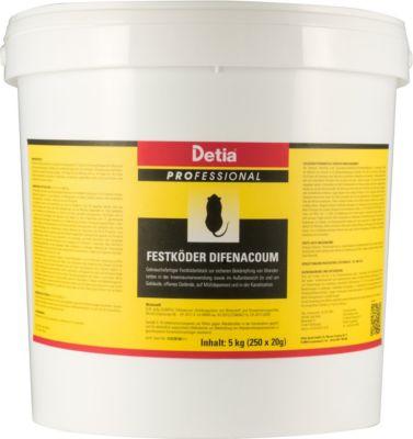 detia Detia - Festköder Difenacoum - 5 kg (250 x 20 g)