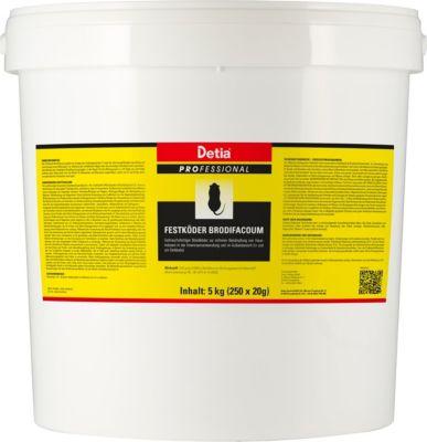 detia Detia - Festköder Brodifacoum - 5 kg (250 x 20 g)