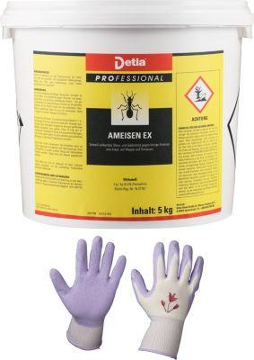 detia Detia - Ameisen-Ex Ameisenmittel - inklusive Garten-Handschuhe Style n Care