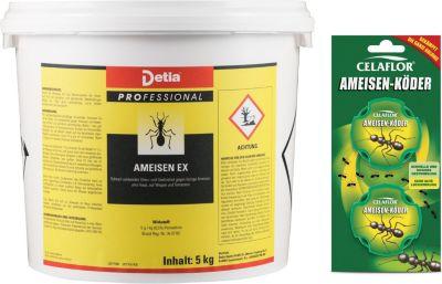 detia Detia - Ameisen-Ex Ameisenmittel - inklusive Ameisen-Köderdosen