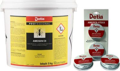 detia Detia - Ameisen-Ex Ameisenmittel 5kg - inklusive 4x Ameisenköderdose