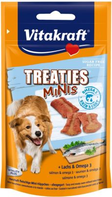 Vitakraft Hundesnack Treaties Minis Lachs & Ome...