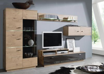 wohnwand m bel billig kaufen. Black Bedroom Furniture Sets. Home Design Ideas